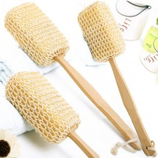 Natural sisal sponge long handle bath brush bath brush 搓 back brush bath brush