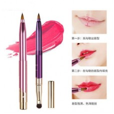 Lomancy a new generation of portable makeup brush retractable lip brush rayon lip gloss brush beauty tools