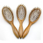 High-end boutique Natural green sandalwood health massage comb Large head airbag hair comb Anti-static wood comb
