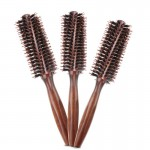 Maserlee manufacturers wholesale hair styling comb wooden hair comb pig bristle square handle cylinder roll comb