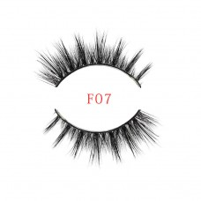 3D mink fur, handmade false eyelashes, export fake eyelashes, F7 new mink eyelashes