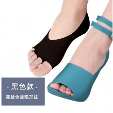 Socks, five finger socks, women's high heels, invisible open toe, full stockings, summer thin socks, toe, women's socks