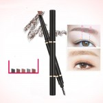 Manufacturers a generation of double-headed waterproof and sweat-proof automatic rotating five-color eyebrow pencil is not smudged makeup tools word eyebrows