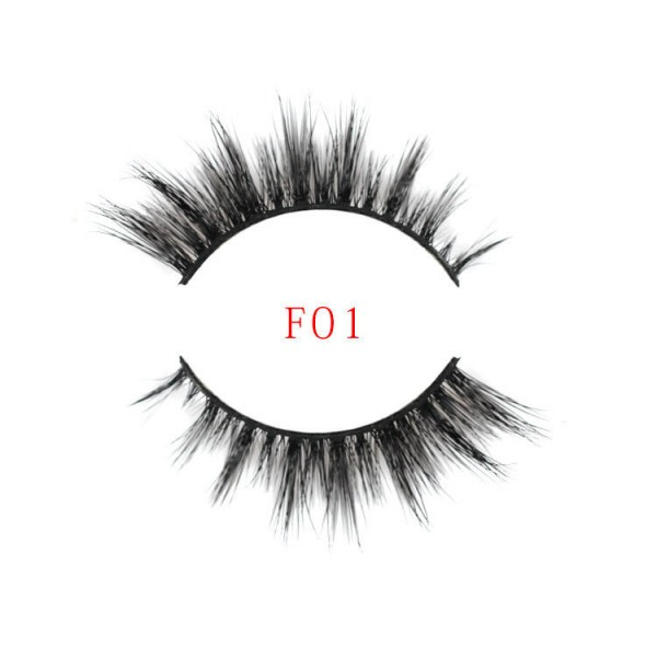 High-grade foreign trade export thick water mane hair 3D false eyelashes Natural elegant cotton wire stem manufacturers wholesale can be customized