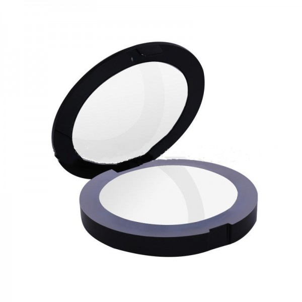 Led with light portable makeup mirror girl beauty makeup with light small mirror plastic round LED fill lens