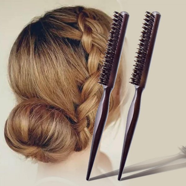 Plate hairy tail comb Cosmetic bag hair comb piglet three rows of comb fluffy evening makeup comb Hair curling shape comb