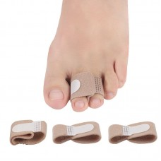Toe thumb valgus wearing cloth toe stretcher day and night with male and female fingers toe