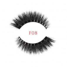 Factory direct thick section 3D three-dimensional multi-layer water mink false eyelashes Natural realistic eyelashes F8