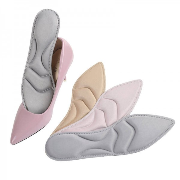 New style 4D high heel sponge insoles Women's comfortable sweat absorbing breathable insole massage insoles autumn pointed