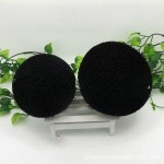 Factory direct bamboo charcoal wash face sponge non-latem cleansing puff / makeup remover / deep cleansing exfoliation