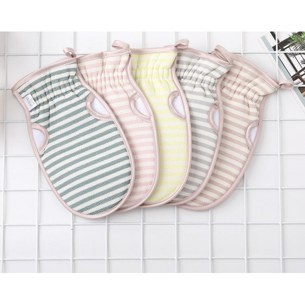 New leaky finger bath towel soft double-sided strong decontamination bathing gloves double-sided free bath towel wholesale