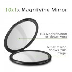 10CM double-sided folding makeup mirror 10 times magnification beauty mirror Amazon hot sale makeup mirror