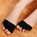 Men and women cotton summer front foot half invisible socks set open toe five finger socks dew finger half finger five toe fish mouth yoga